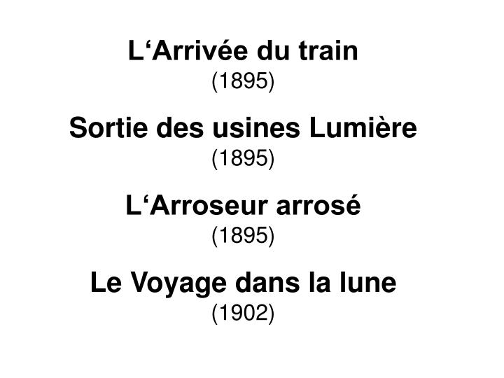 L'Arrivée du train