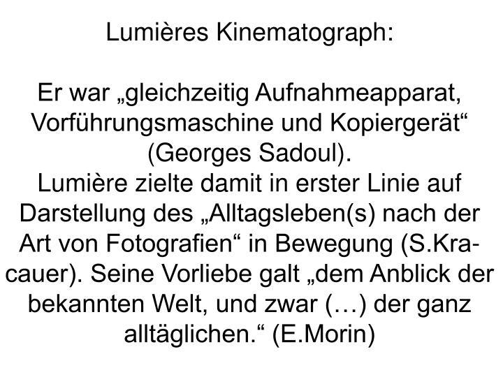 Lumières Kinematograph:
