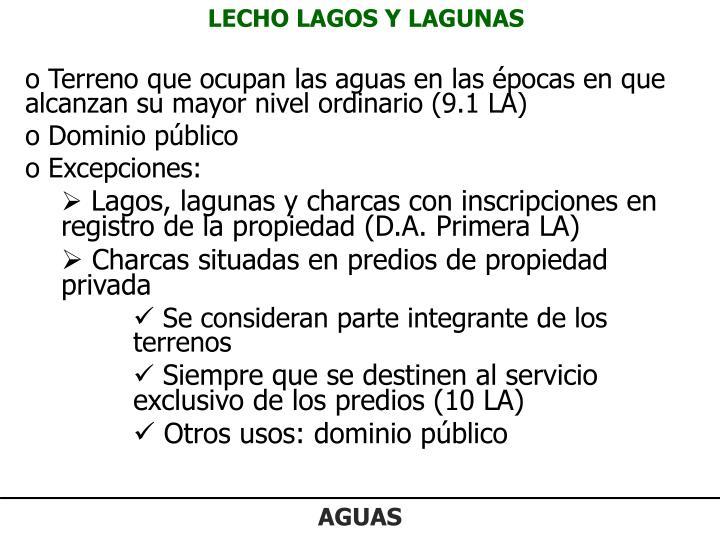 LECHO LAGOS Y LAGUNAS