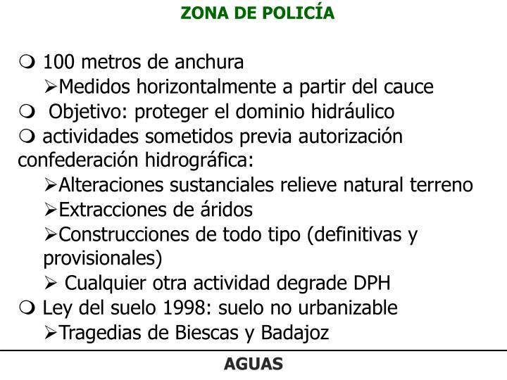 ZONA DE POLICÍA