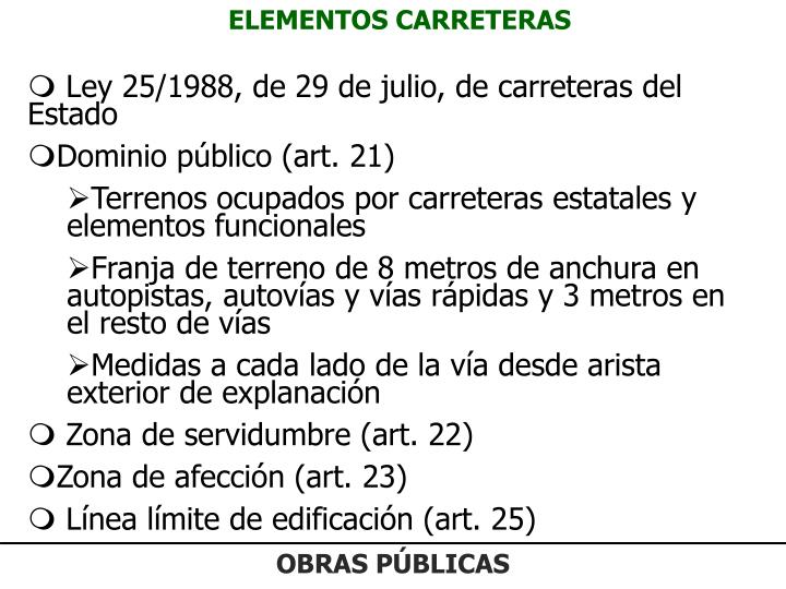 ELEMENTOS CARRETERAS