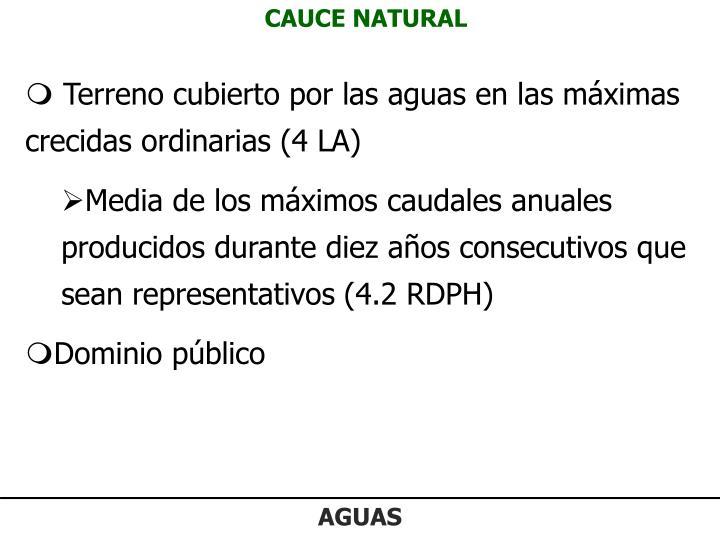 CAUCE NATURAL