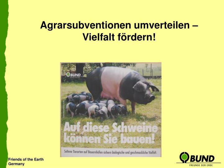 Agrarsubventionen umverteilen – Vielfalt fördern!