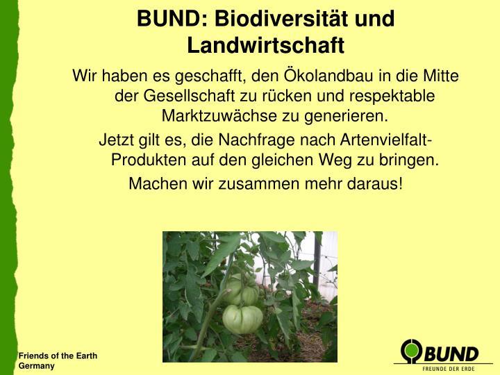 BUND: Biodiversität und Landwirtschaft