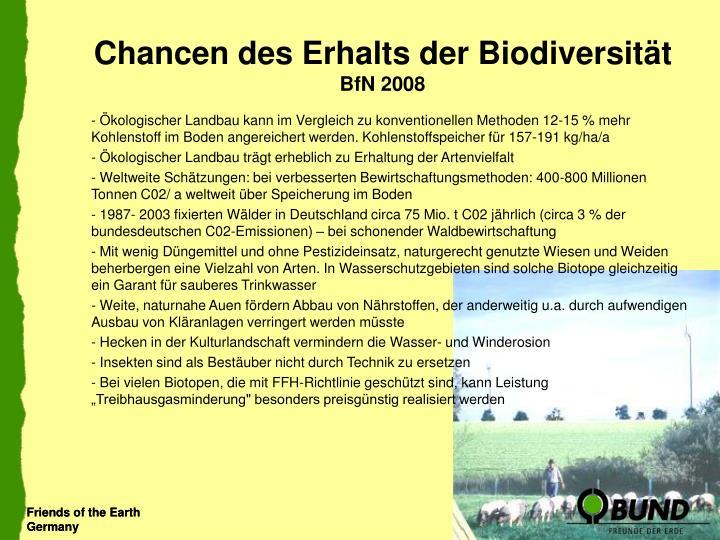 Chancen des Erhalts der Biodiversität