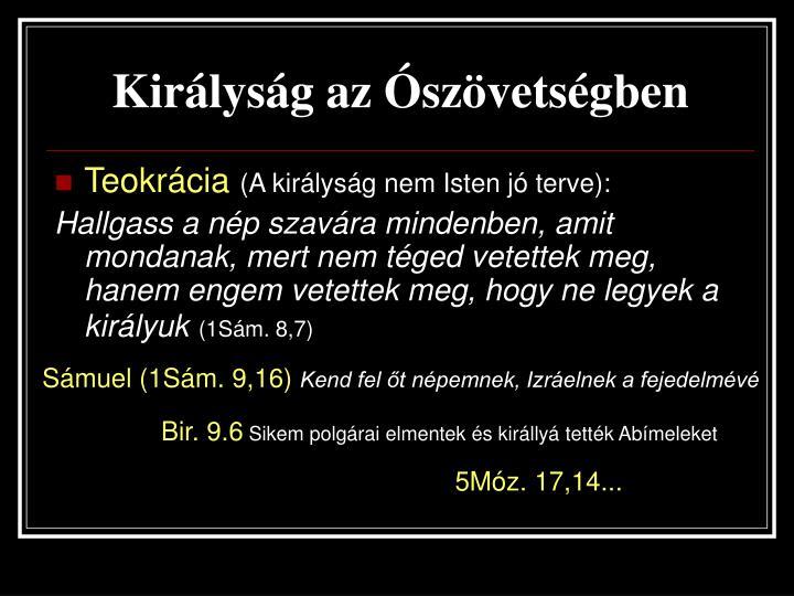 Királyság az Ószövetségben