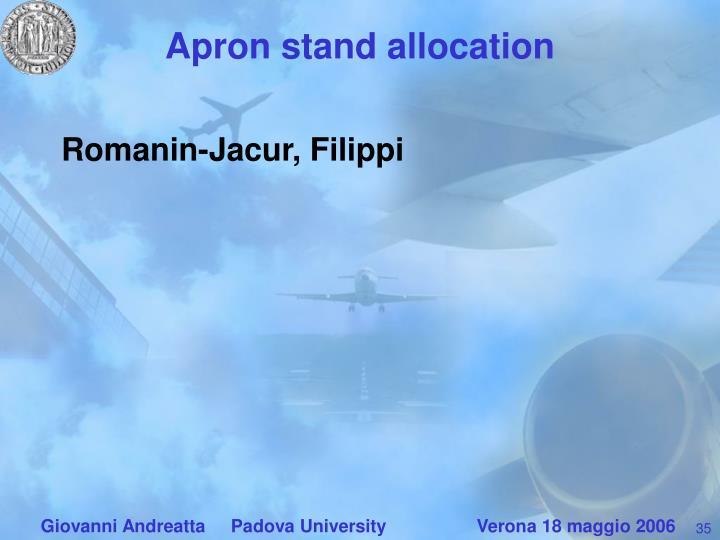 Apron stand allocation