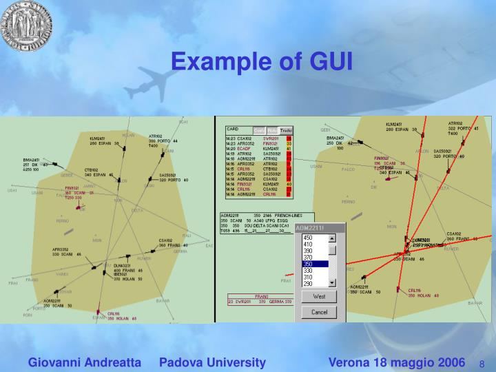 Example of GUI