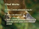 cited works