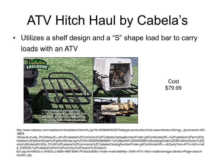 ATV Hitch Haul by Cabela's