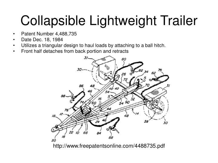 Collapsible Lightweight Trailer
