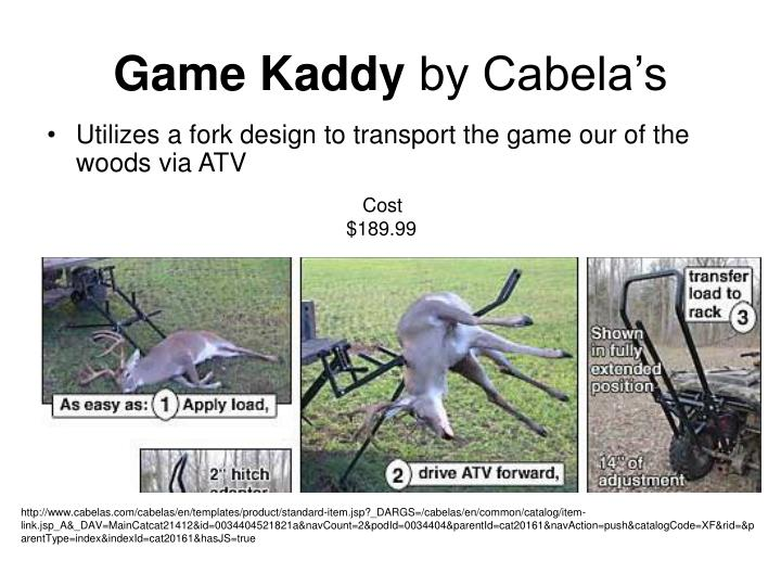 Game kaddy by cabela s