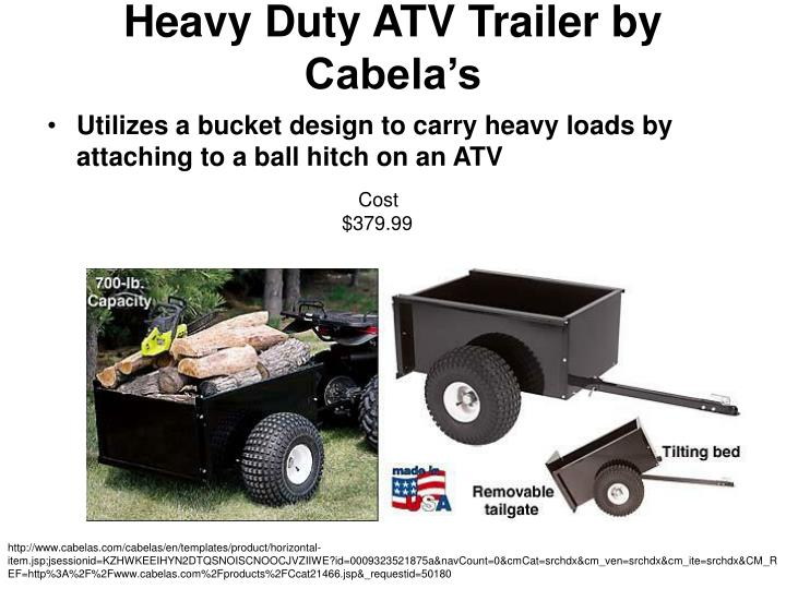Heavy duty atv trailer by cabela s