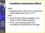 condition interaction effect