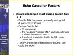 echo canceller factors1