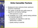 echo canceller factors2