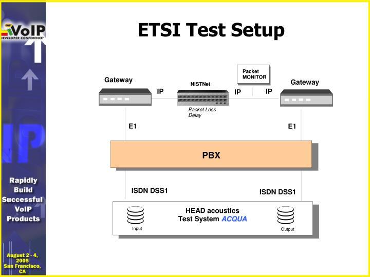 ETSI Test Setup