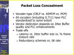 packet loss concealment