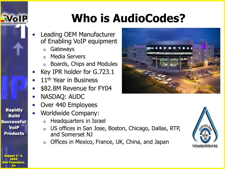 Who is audiocodes