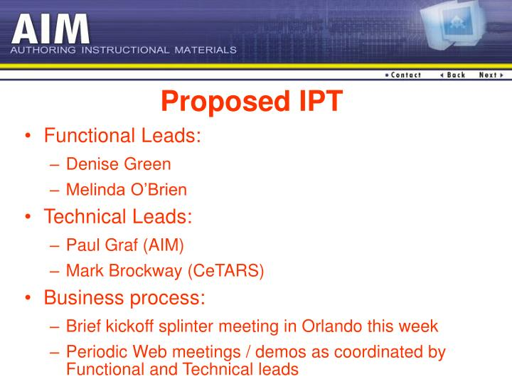 Proposed IPT