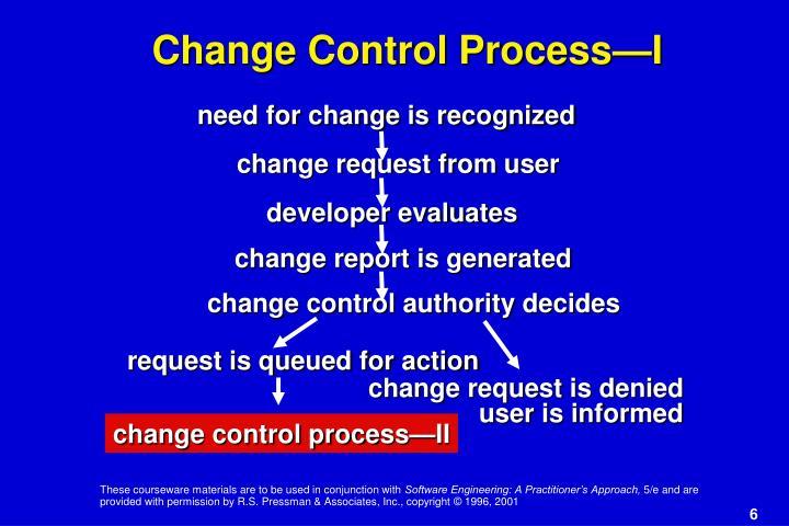 Change Control Process—I
