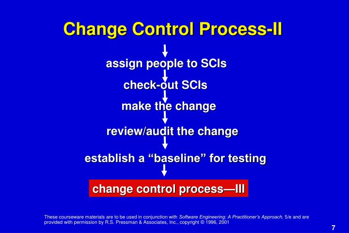Change Control Process-II
