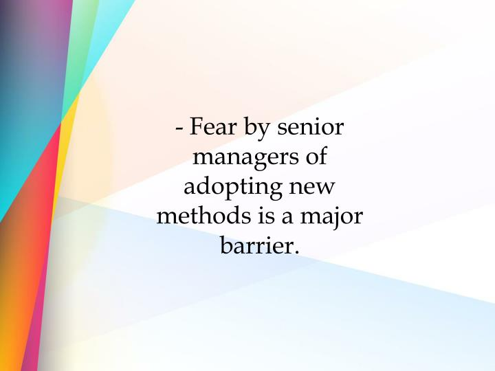 - Fear by senior