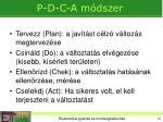 p d c a m dszer