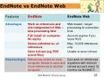 endnote vs endnote web