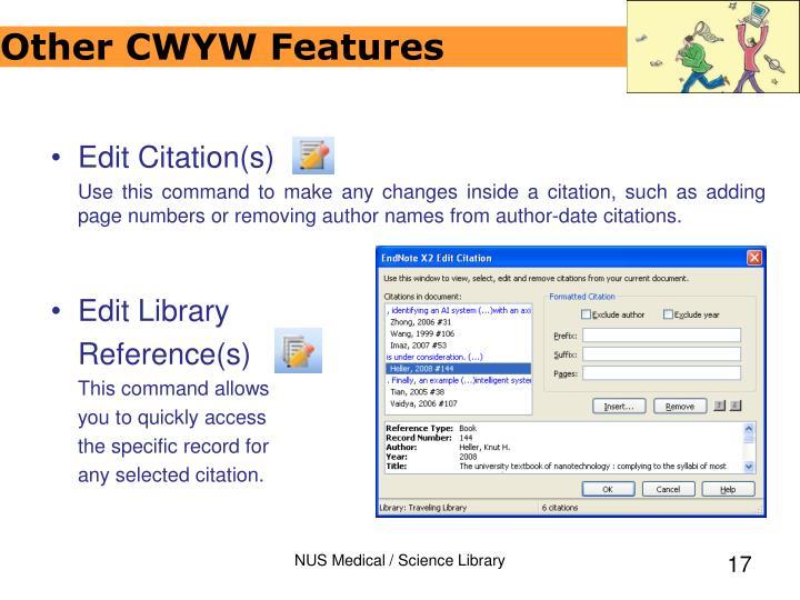 Customize Citations