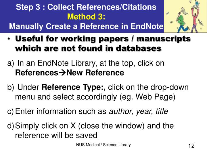 Useful for working papers / manuscripts which are not found in databases
