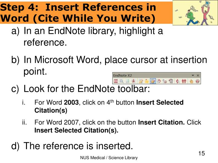 In an EndNote library, highlight a reference.