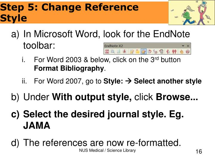 In Microsoft Word, look for the EndNote toolbar: