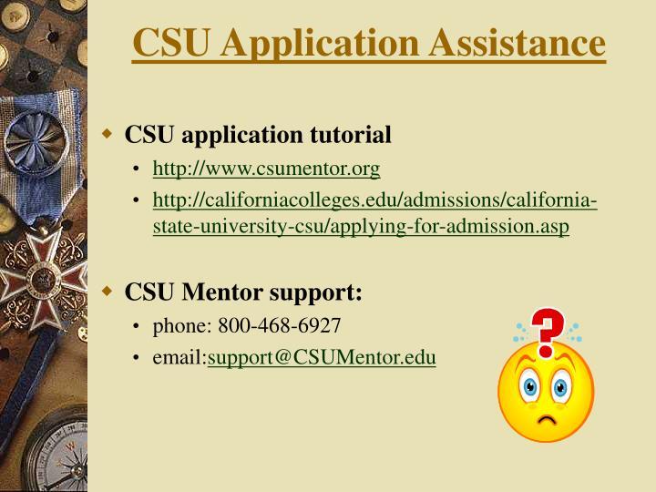 CSU Application Assistance
