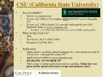 csu california state university