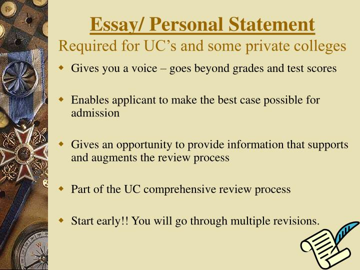 Essay/ Personal Statement