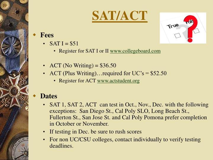 SAT/ACT