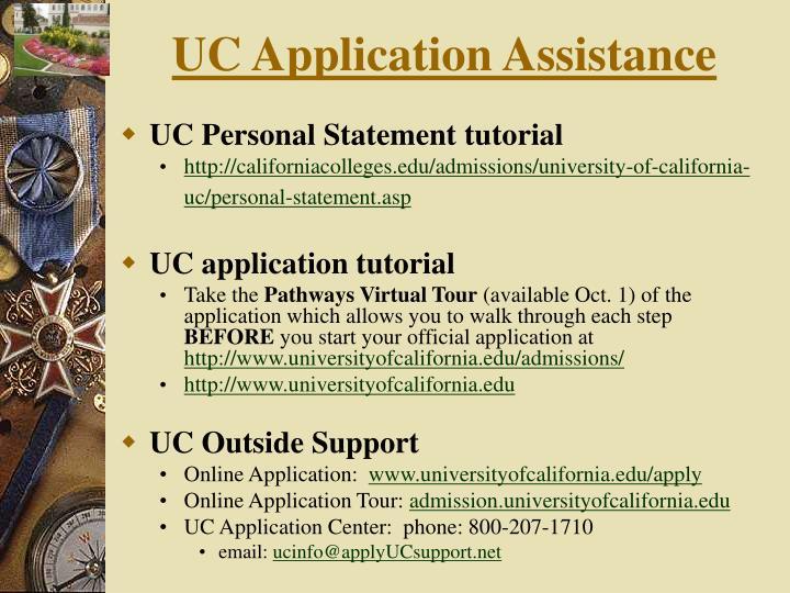 UC Application Assistance