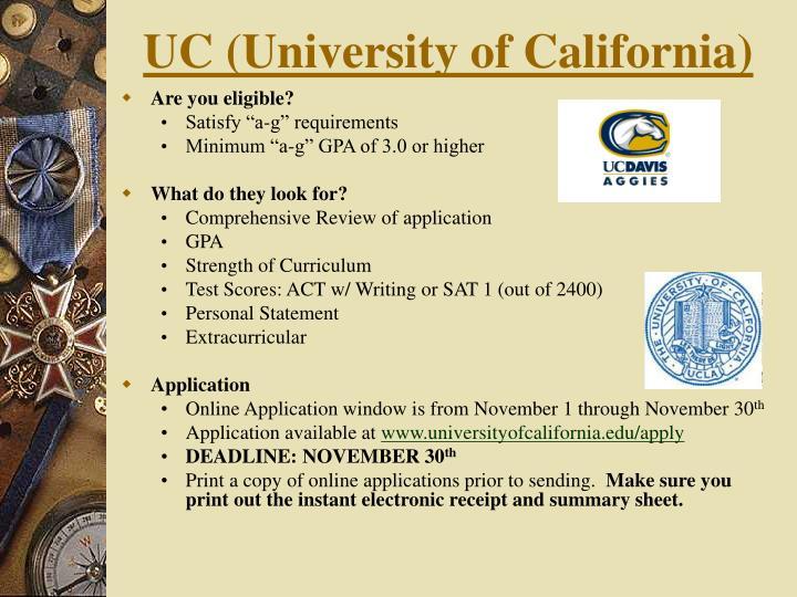 UC (University of California)