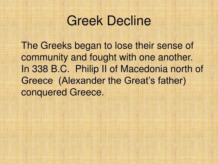 Greek Decline