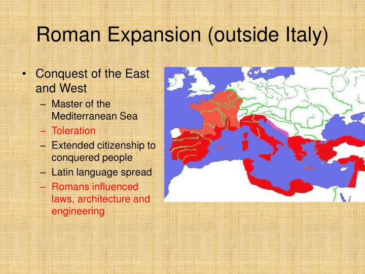 Roman Expansion (outside Italy)