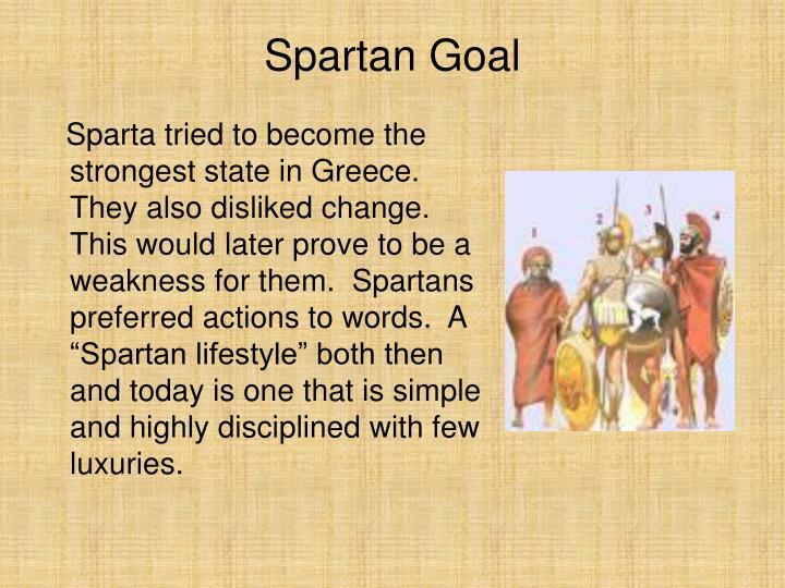 Spartan Goal
