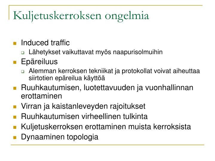 Kuljetuskerroksen ongelmia