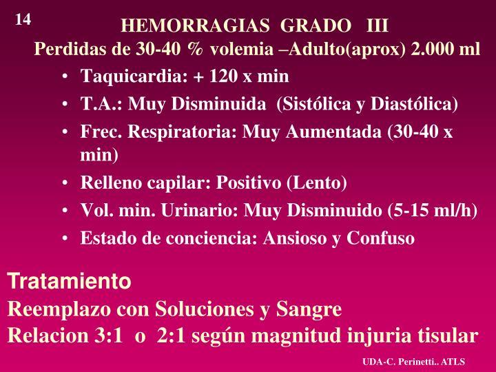 HEMORRAGIAS  GRADO   III