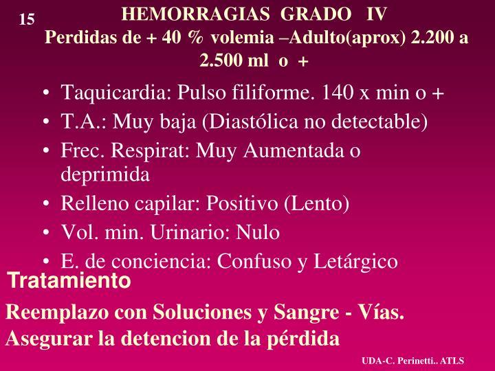 HEMORRAGIAS  GRADO   IV
