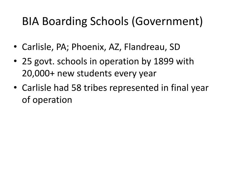 BIA Boarding Schools (Government)