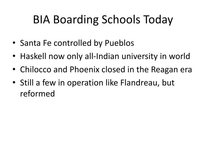 BIA Boarding Schools Today