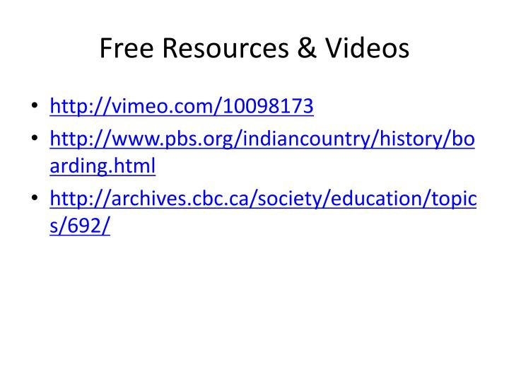 Free Resources & Videos
