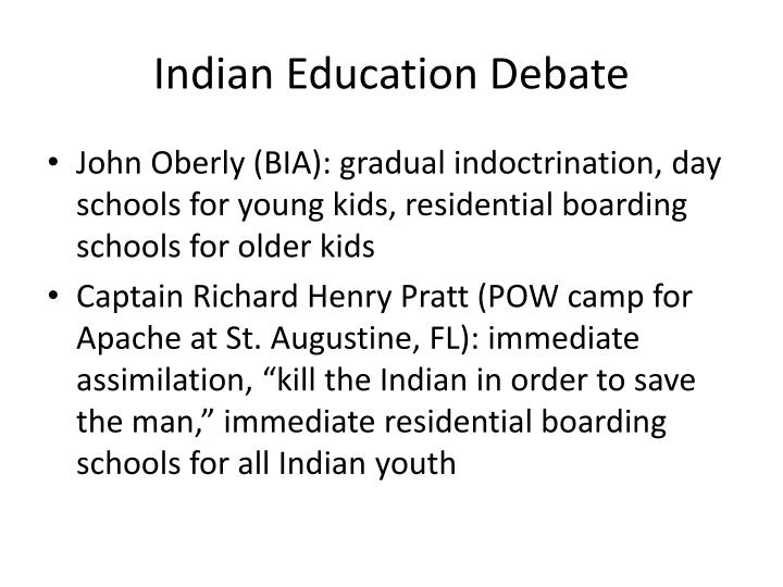 Indian education debate