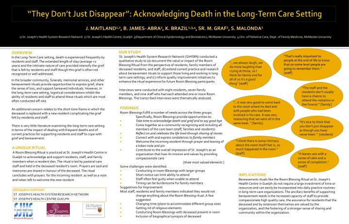 """""""They Don't Just Disappear"""": Acknowledging Death in the Long-Term Care Setting"""